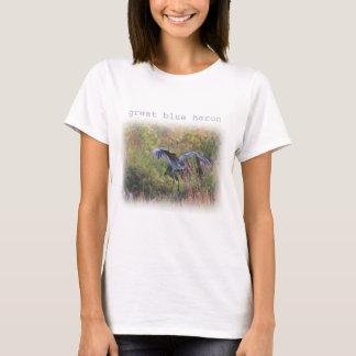 Great Blue Heron landing T-Shirt