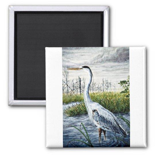 Great blue heron magnet
