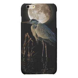 Great Blue Heron & Moon Wildlife Art