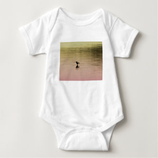 Great Blue Heron on Gradient Background Baby Bodysuit