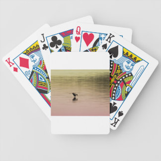 Great Blue Heron on Gradient Background Bicycle Playing Cards