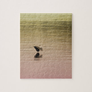Great Blue Heron on Gradient Background Jigsaw Puzzle