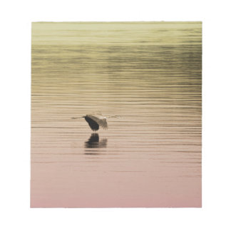 Great Blue Heron on Gradient Background Notepad