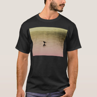 Great Blue Heron on Gradient Background T-Shirt