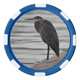 Great Blue Heron Poker Chip