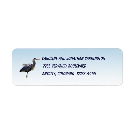 Great Blue Heron Return Address Label