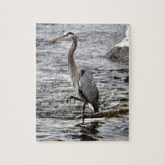 Great Blue Heron Wildlife Birdlover Photo Jigsaw Puzzle