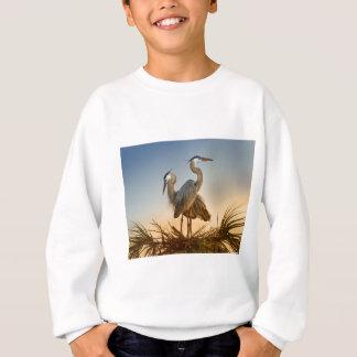 Great Blue Herons at Sunrise Sweatshirt