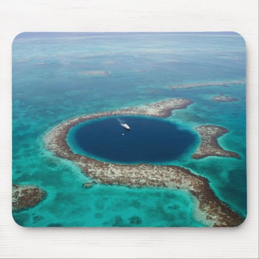 GREAT BLUE HOLE 1 MOUSE PAD