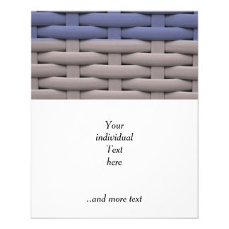 great braided basket, blue stripes flyers