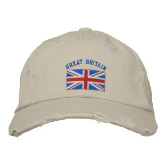 Great Britain embroidered hat