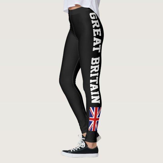 Great Britain English flag workout fitness yoga Leggings