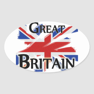 Great Britain - faded flag Oval Sticker