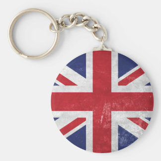Great Britain Flag Basic Round Button Key Ring