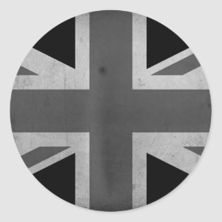 Great Britain Flag BW Classic Round Sticker