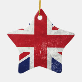 Great Britain Flag Ceramic Ornament