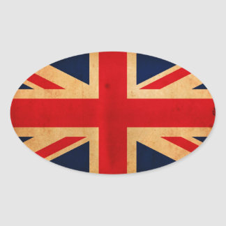 Great Britain Flag Oval Sticker