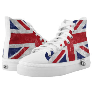 Great Britain Flag Printed Shoes