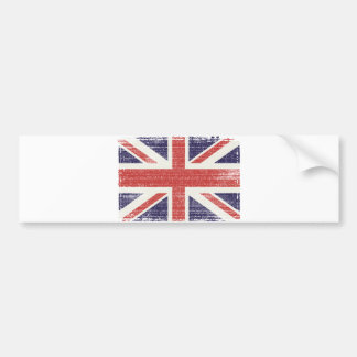 Great Britain flag vintage Bumper Sticker