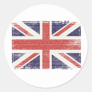 Great Britain flag vintage Round Sticker