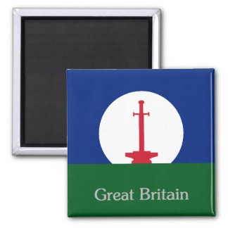 Great Britain Square Magnet - Arthurian