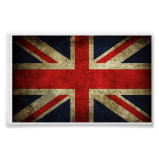 Great Britain UK flag Poster