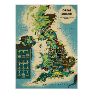 Great Britain ~Vintage British Travel Poster. Poster