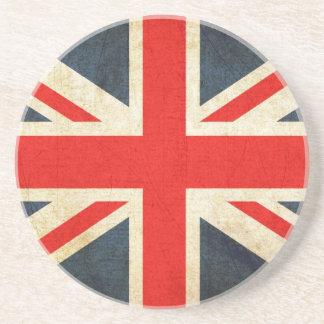 Great Britian Flag in Grunge Coaster