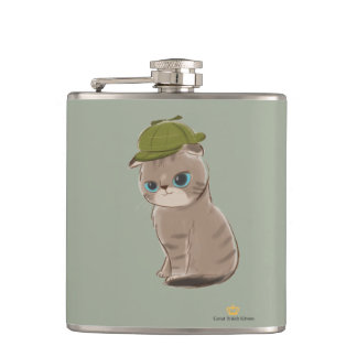 Great British Kittens - Vinyl Wrapped Flask