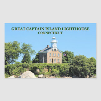 Great Captain Island Lighthouse, CT Stickers