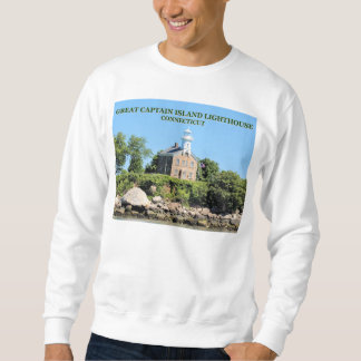 Great Captain Island Lighthouse, CT Sweatshirt