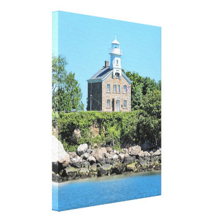 Great Captain Island Lighthouse CT Wrapped Canvas