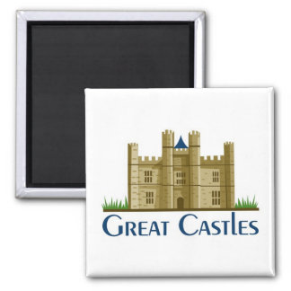 Great Castles Square Magnet