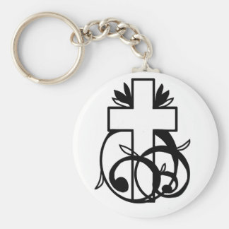 Great Christian design Basic Round Button Key Ring