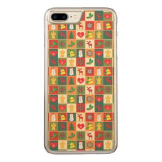 Great Christmas Pattern Carved iPhone 8 Plus/7 Plus Case