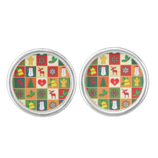 Great Christmas Pattern Cufflinks