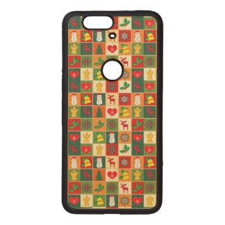 Great Christmas Pattern Wood Nexus 6P Case