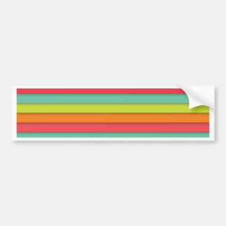 Great colored tiles background pattern bumper sticker