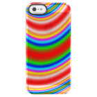 Great colourful line pattern clear iPhone SE/5/5s case
