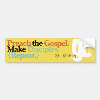 Great Commission Bumper Sticker