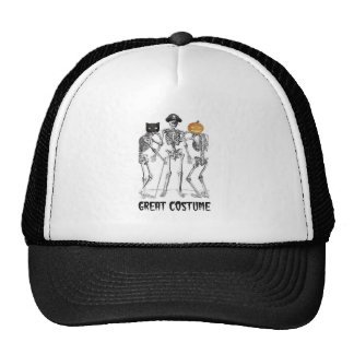 GREAT COSTUME SKELETONS ON HALLOWEEN MESH HATS