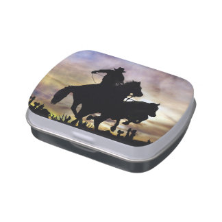 Great Cowboy Roping Jelly Bean Tin Jelly Belly Tin