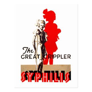 Great Crippler ~ Syphilis Postcard