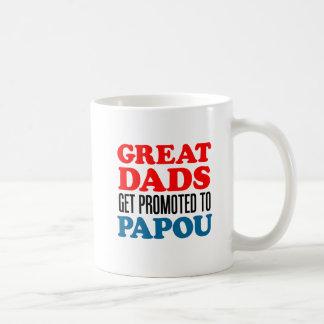 Great Dads Promoted To Papou Mug