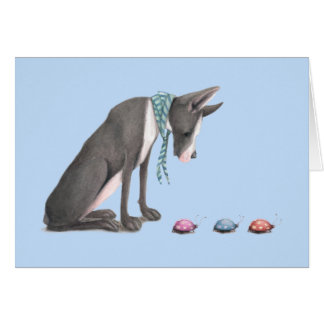 Great Dane and Ladybugs Card