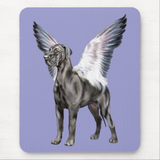 Great Dane Angel Black UC Mouse Pad