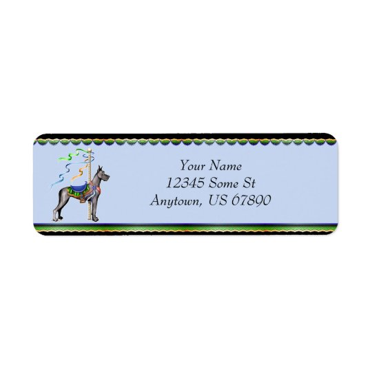 Great Dane Black Carousel Labels