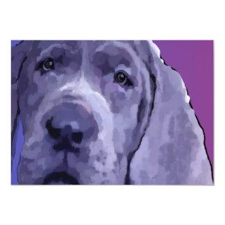 Great Dane Blue Puppy Face Post Cards 13 Cm X 18 Cm Invitation Card