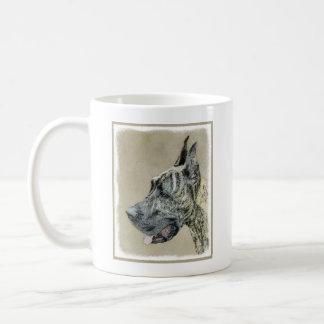 Great Dane (Brindle) Painting - Original Dog Art Coffee Mug