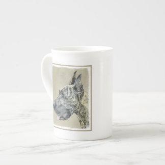 Great Dane (Brindle) Painting - Original Dog Art Tea Cup